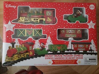 Disney Mickey Mouse Holiday Expres Train Set. RUZ. Brand New. 12 Piece.