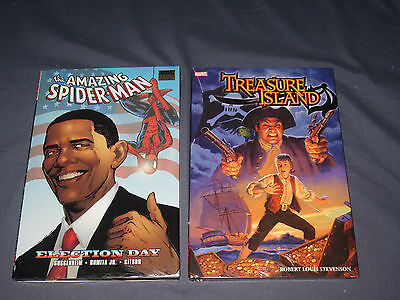 Marvel Amazing Spider Man Election Day Treasure Island Graphic Novel Hard Covers