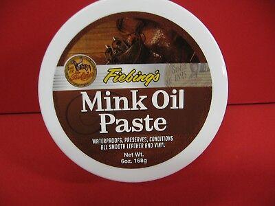 Fiebings Mink Oil 6 Oz. - Waterproofing Paste - Leather (Mink Oil Paste)