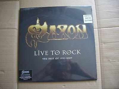 Saxon Live To Rock The Best Of 1991 - 2009 black vinyl 1000 copies HMV EXCLUSIVE