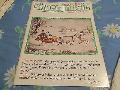 book DECEMBER 1982 SHEET MUSIC MAGAZINE PIANO/GUITAR THE MUSIC OF LERNER & LOEWE