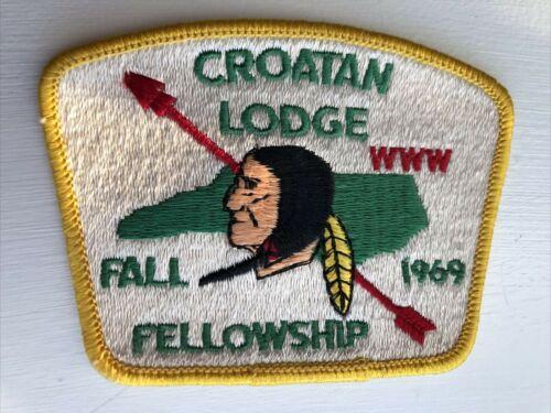 OA (BSA) Croatan Lodge #117 - 1969 Fall Fellowship Patch