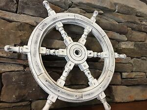 New rustic wooden Ship Wheel