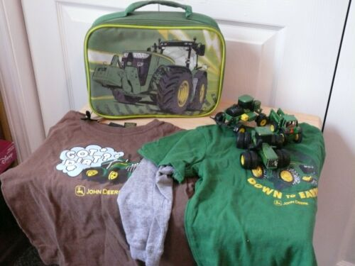 John Deere Set--Includes a Lunchbox, Three Vehicles, and Two Shirts (Size 4 T)