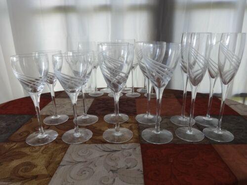"Lenox WINDSWEPT  Wine Glasses 7 3/4"" x 2 3/4"""