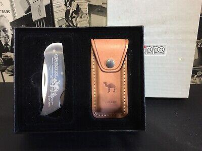 1994 RJRTC CAMEL CIGARETTES STAINLESS STEEL ZIPPO KNIFE MINT IN (Zippo Steel Knife)