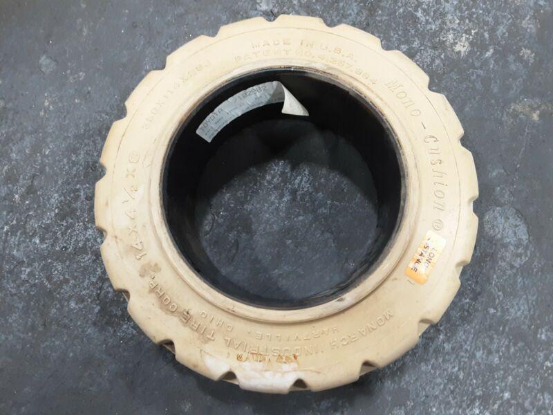 14x4 1/2x8 MONO CUSHION Press On Tire Forklift Tire MONARCH NON MARKING #53C9PR4