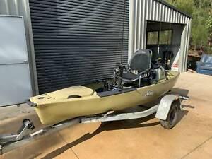 Kayak - Hobie PA12 kayak with MirageDrive, Seat & extras, on trailer