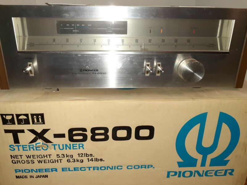 Vintage Pioneer TX-6800 AM FM Stereo Tuner TESTED w/ BOX, MANUAL. EXCELLENT COND