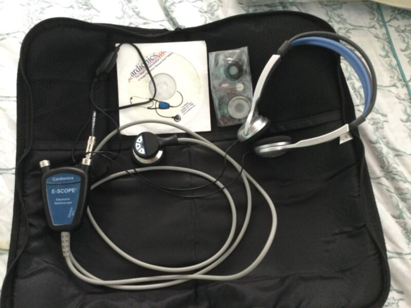 Cardionics E-Scope Amp Electronic stethoscope 718-7710 Belt Model w/headphones