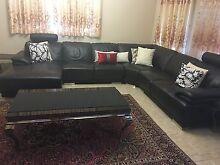 Full 100% leather sofa / couch / lounge set Auburn Auburn Area Preview