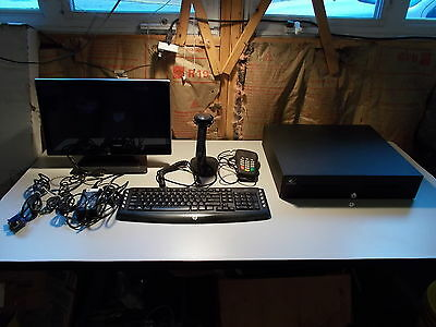 Pos System Honeywell Scanner Elo 19 Touch Monitor Hp Keyboard Apg Drawer