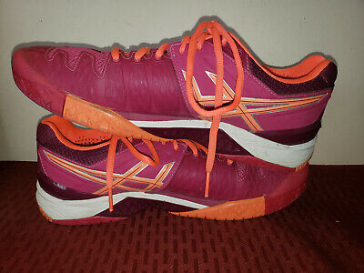 Aasics Women's Tennis Shoes Size 10 US Pink/Orange E550Y Gel-Resolution PHF