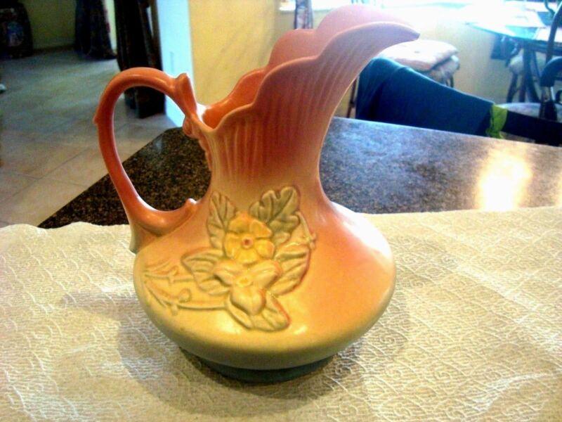 Vintage Hull Pitcher Ewer Vase Wild Flower Pattern Matte Finish