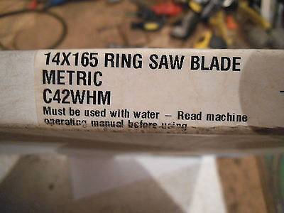 Diamond Products 90667 Wet Ring Saw Blade 14 X .165 C42whm Metric