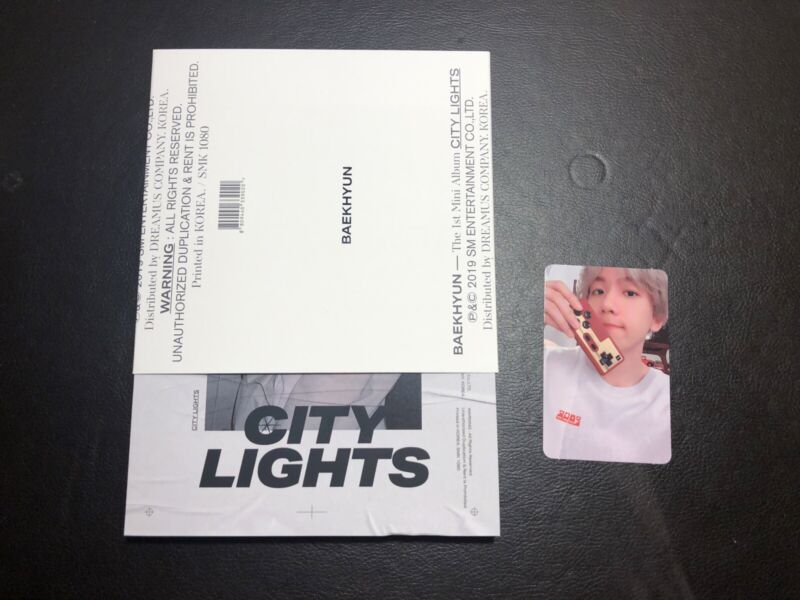 Exo Baekhyun 1st Mini Album City Lights Cd Day Ver With Photocard
