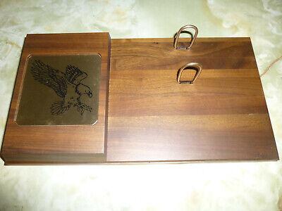 Genuine Black Walnut Loose-leaf Desk Calendar Base For 3.5 X 6 Inch Page Size