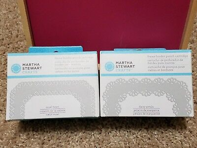 NEW Martha Stewart Frame Border Cartridge LOT of 2 arts and crafts BEAUTIFUL