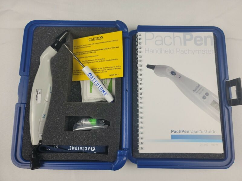 Accutome Handheld Pachpen Pachymeter -Corneal Thickness w/IOP Correction