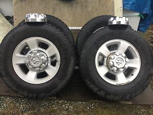 Dodge Truck rims and tires. Size LT 265/70R17.nokian Vativa M/S.