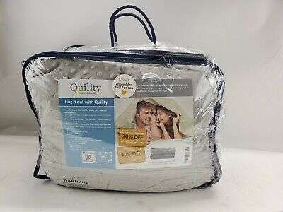 """NEW Quility Weighted Blanket Grey 86"""" x 92"""" 30 Lbs WB-AWB-8692-30LBS-Grey"""
