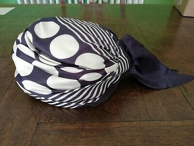 Vintage 1960s scarf Turban Hat