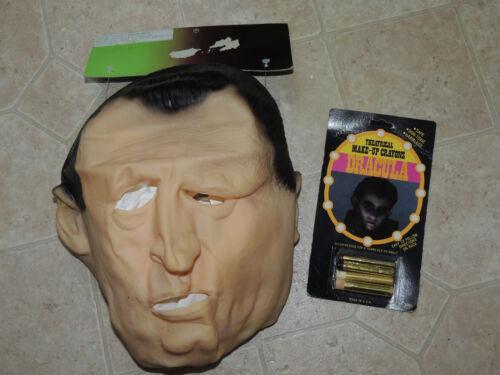 Rare Prototype Salesman Sample Ben Cooper Dracula Full Vinyl Mask with Makeup