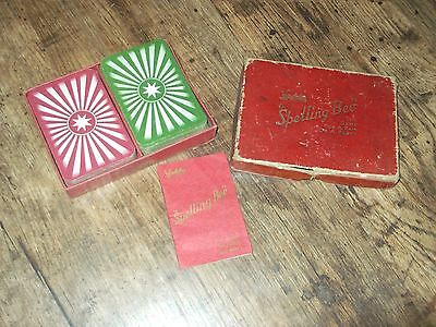 Vintage 1950s Spelling Bee cards by Waddy