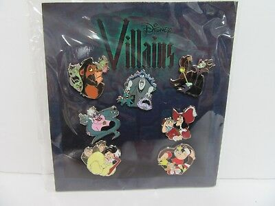 Disney Parks Villains Maleficent Ursula Scar Hook Maleficent 7 Pin Booster Set