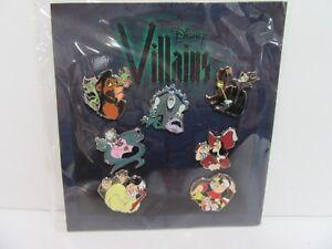 Disney Parks Villains Maleficent Ursula Scar Hook Maleficent 7 Pin Booster Set