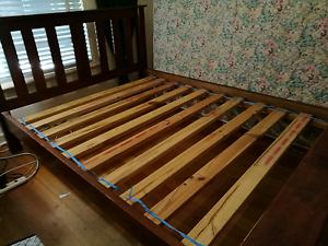 Wooden queen size bed Payneham South Norwood Area Preview