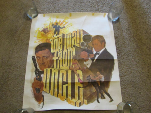 VINTAGE NBC 1966 MAN FROM UNCLE POSTER 21 X 24