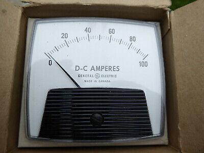 Ge Panel Mount Meter L552gbpk Dc Amperes 0-100 Amps