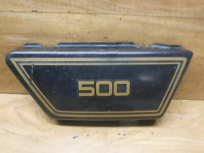 1975 75 <em>YAMAHA</em> XS500 <em>XS 500</em> OEM LEFT REAR BACK SIDE COVER PANEL LID FA