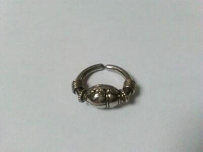 Egyptian Scarab Pewter Historical Ring