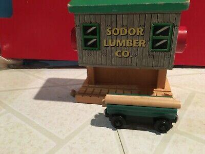 Thomas the Train Sodor Lumber with Brio log car Log Loader from Lift Load Set