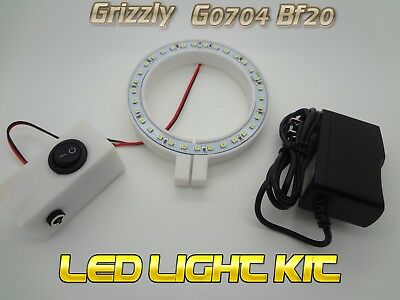 Go704 Grizzly Mill Led Light System Cnc Mach3 Bf20 Plug N Play G0704 Cad Cam