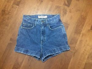 American Apparel High Waisted Denim Shorts Size 25