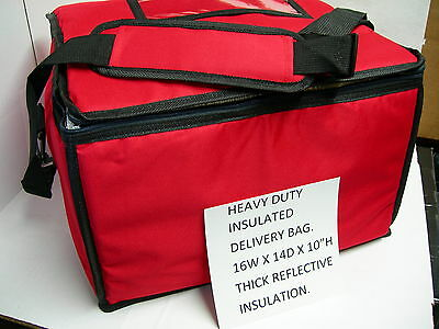 Insulated Food Delivery Bag Rigid Sides 16wx14dx10h For Your Broaster Fryer