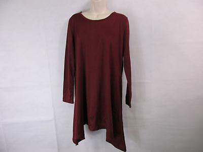 For G & PL Womens' XL Burgundy Red Long-Sleeved Tunic Swing Dress NEW