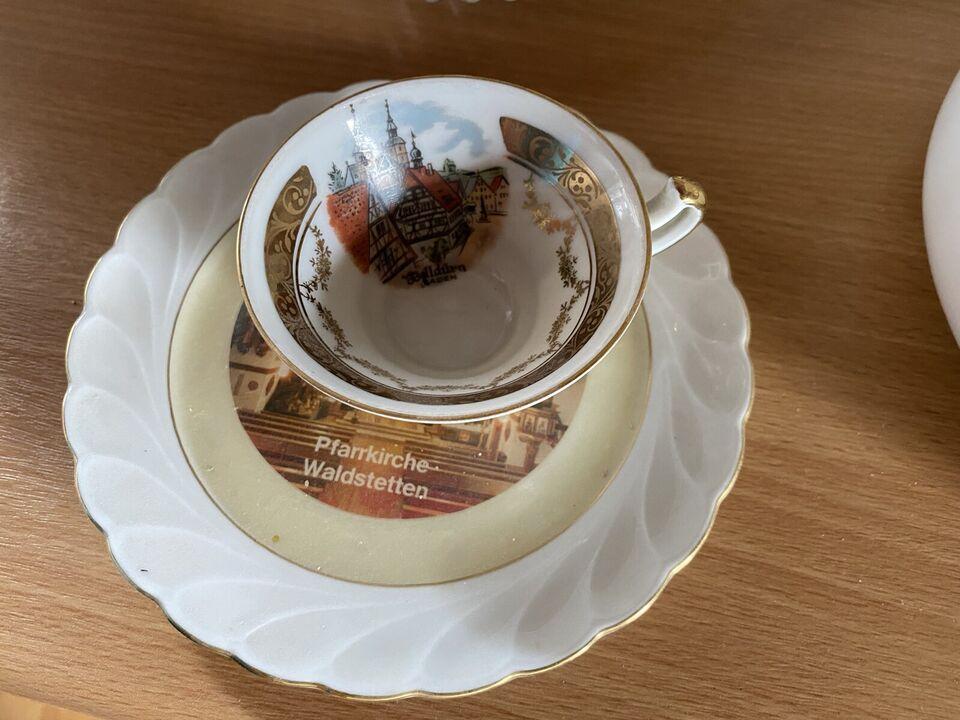 Antikes Porzellan mit Goldrand, Bavaria in Altbach