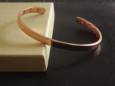 Copper Magnetic Bracelet Arthritis Therapy Energy Cuff - Men & Women 8 Magnet