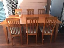 Timber dining table & 6 chairs Kirrawee Sutherland Area Preview