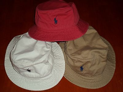 POLO RALPH LAUREN BUCKET BEACH FISHING HAT PLAIN COLOR AND M