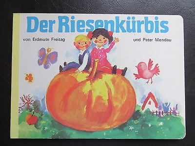 Der Riesenkürbis-Kürbis-Halloween-DDR Bilderbuch-70er Jahre