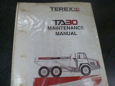 Terex TA30 Articulated Dump Truck Owner Operator Maintenance Manual