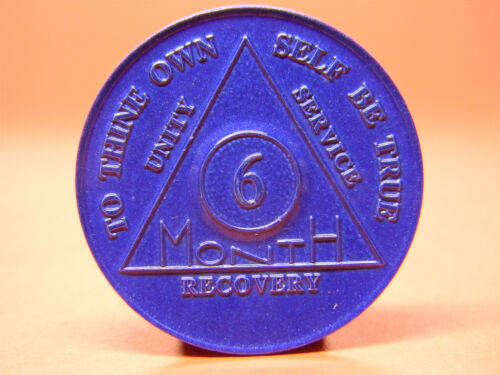ALCOHOLICS ANONYMOUS - 6 MONTH  ANNIVERSARY CHIP - MEDALLION - TOKEN