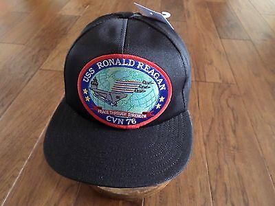 85a5077e9 USS RONALD REAGAN CVN-76 NAVY SHIP HAT U.S MILITARY BALL CAP USA MADE