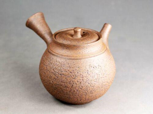 Tokoname Hand-made Rihi Nanban Teapot by Hokujo, #hokujo137 : D84*H83mm, 220ml