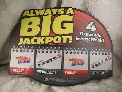Michigan Lotto Lottery Big Jack Pot Display Advertising Counter Mat